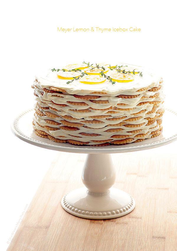 Lemon Icebox Cake  Meyer Lemon Thyme Icebox Cake Recipe