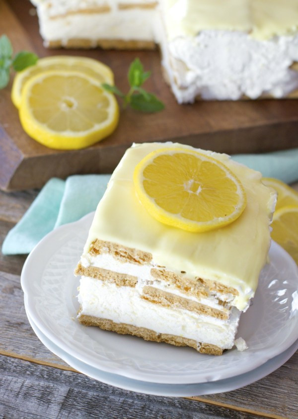 Lemon Icebox Cake  Lemon Icebox Cake Maebells