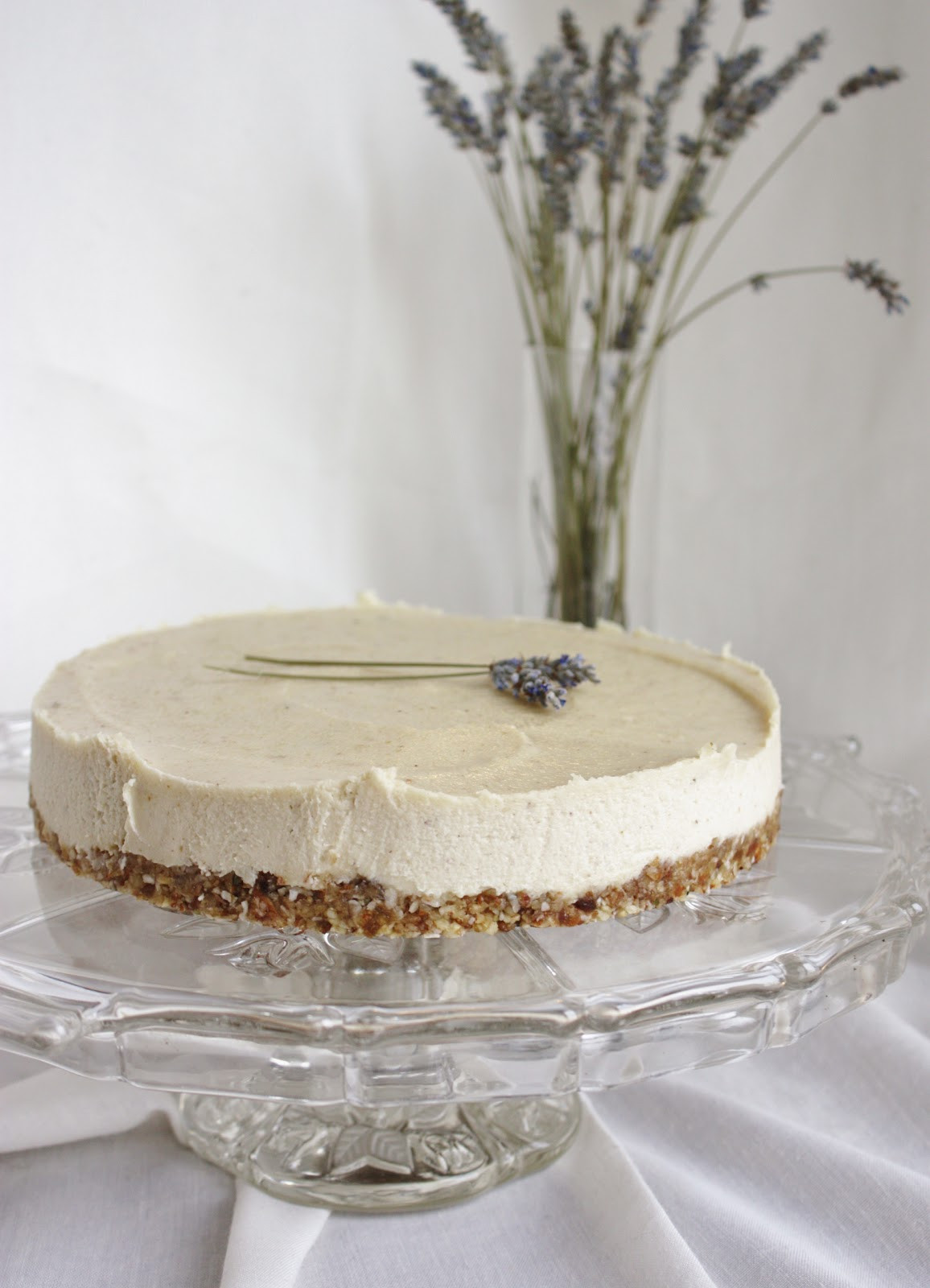 "Lemon Lavender Cake  This Rawsome Vegan Life lavender & lemon ""cheesecake"""