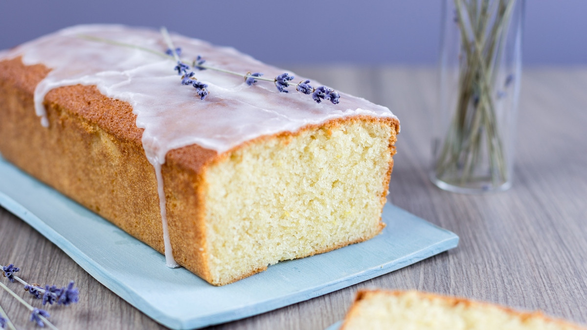 Lemon Lavender Cake  Lemon lavender cake loaf Electric Blue Food