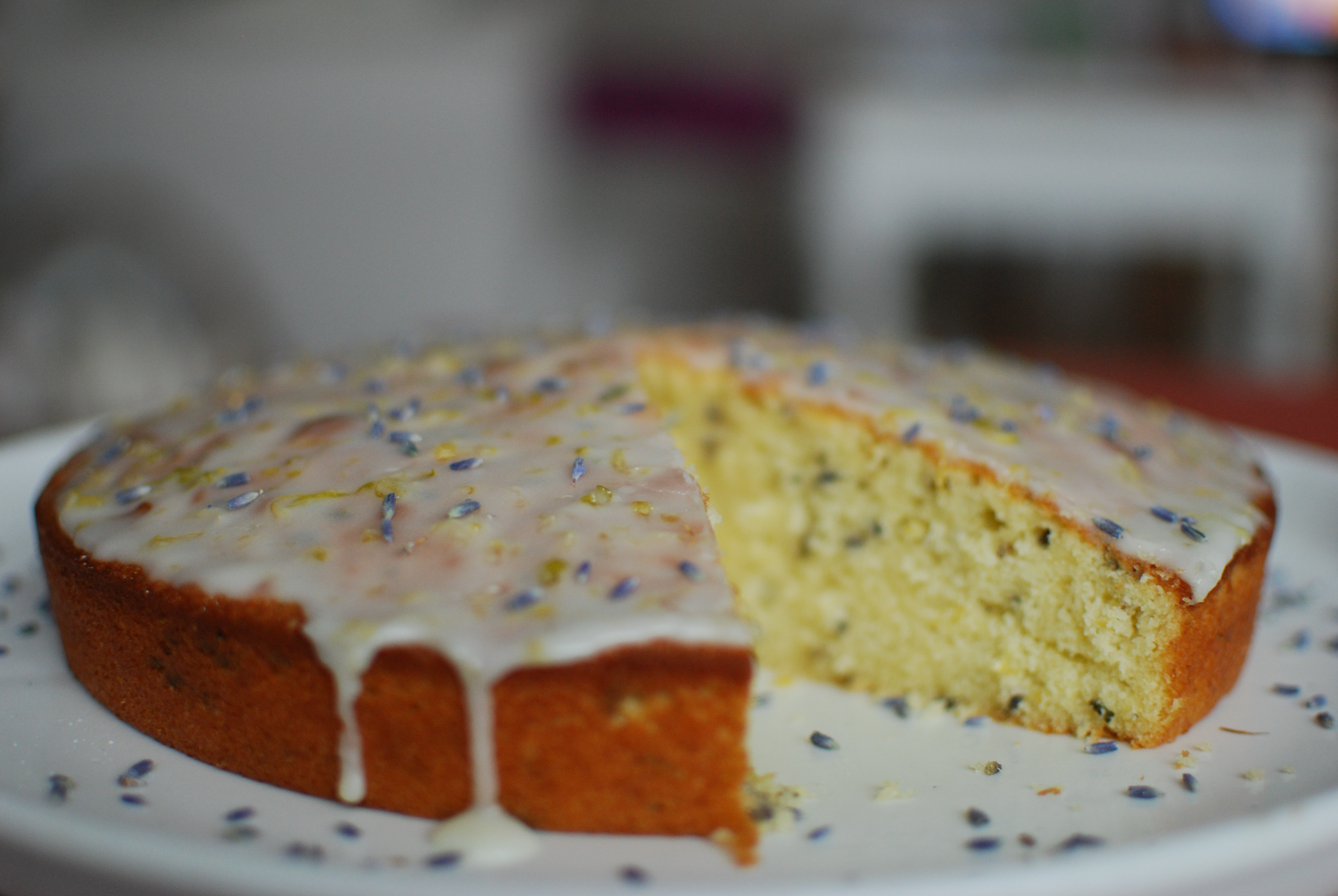 Lemon Lavender Cake  Lavender and lemon pound cake