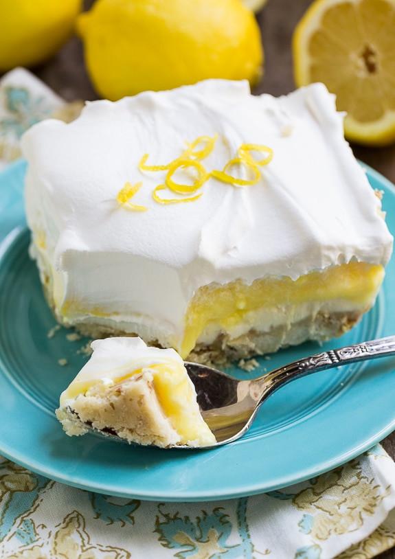 Lemon Lush Desserts  lemon lush dessert graham cracker crust