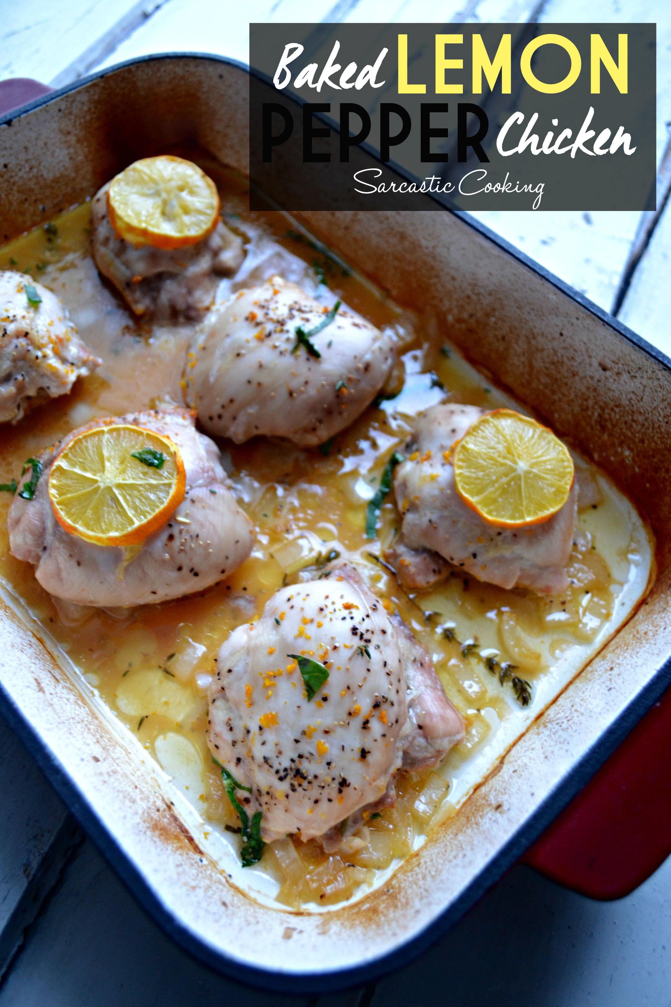 Lemon Pepper Baked Chicken  Baked Lemon Pepper Chicken