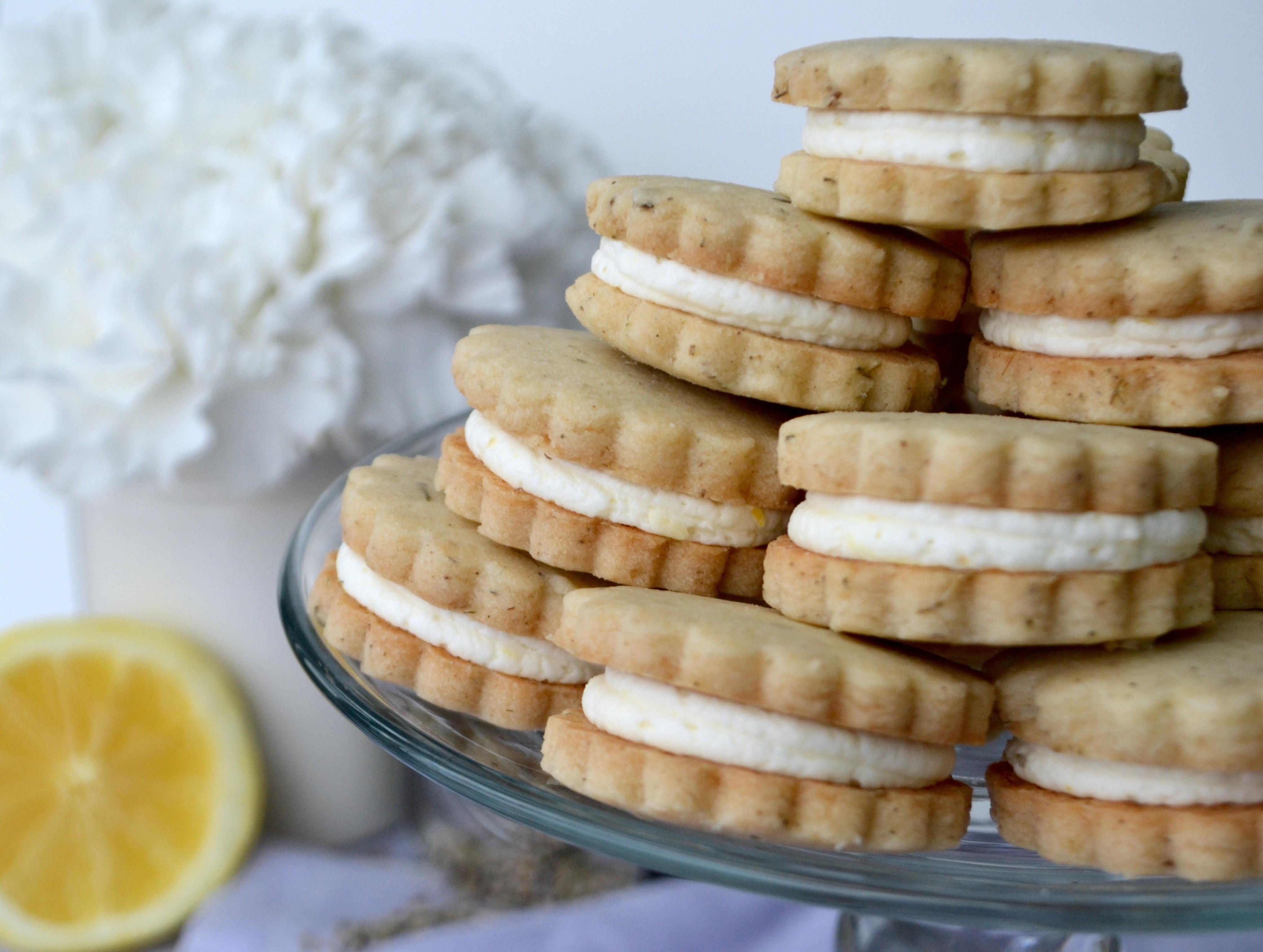 Lemon Shortbread Cookies  Lavender Lemon Shortbread Cookies angean angean