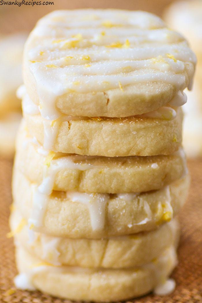 Lemon Shortbread Cookies  Lemon Shortbread Cookies Swanky Recipes