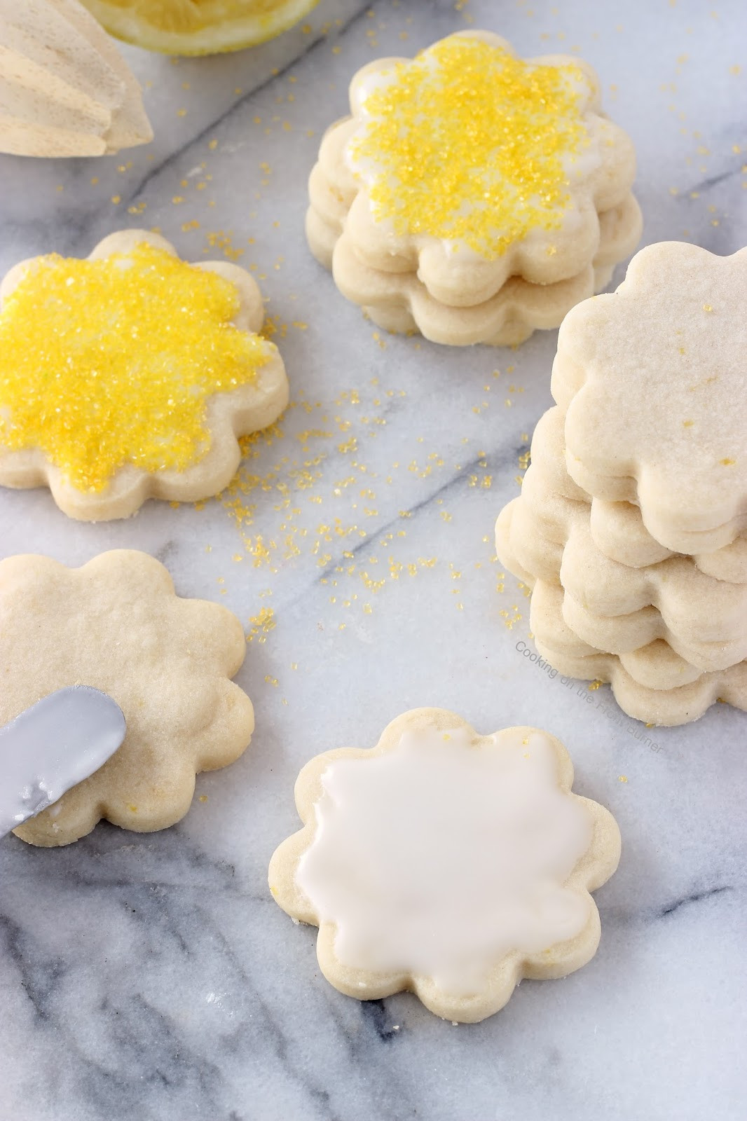 Lemon Shortbread Cookies  Lemon Shortbread Cookies