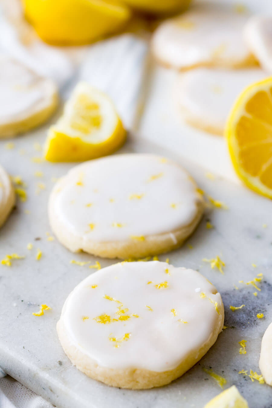 Lemon Shortbread Cookies  Lemon Shortbread Cookies Eazy Peazy Mealz