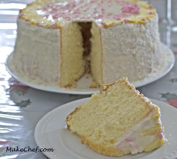 Lemon Sponge Cake  Lemon Chiffon Cake Lemon Sponge Cake