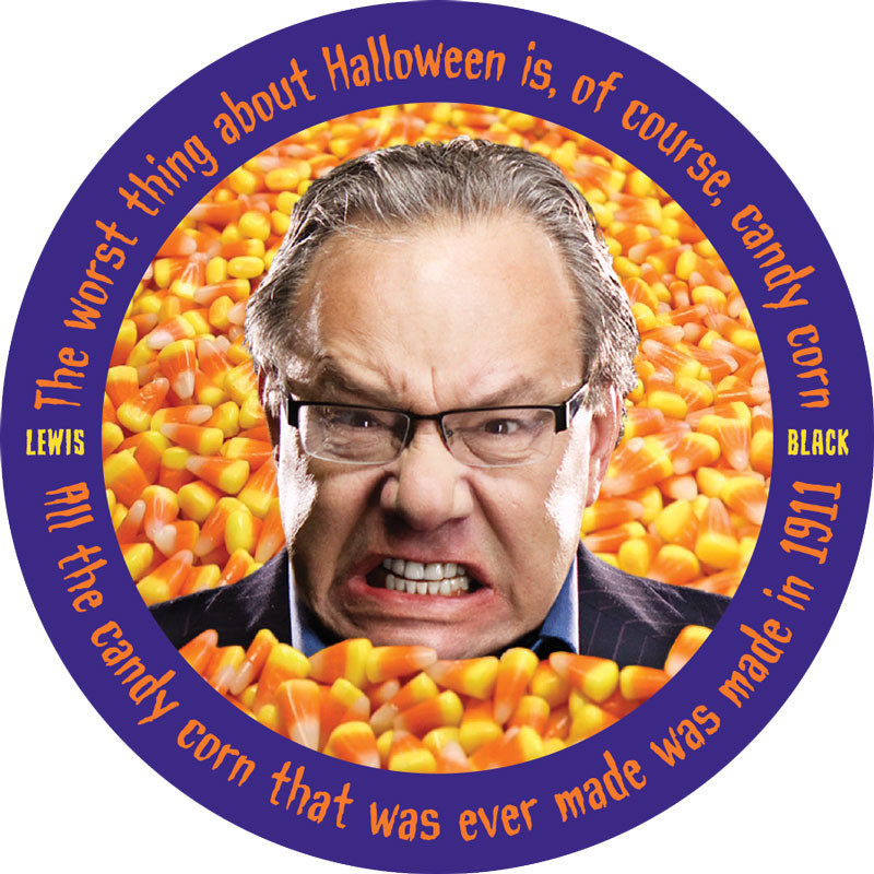 Lewis Black Candy Corn  SPOOKY SPECIAL Set of 7 Stickers