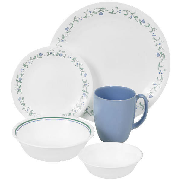 Light Weight Dinner Ware  Corelle Country Cottage 30pc Dinner Set Camping Dinnerware