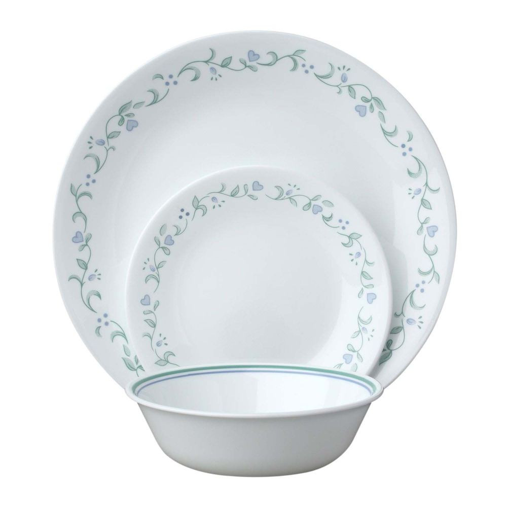 Light Weight Dinner Ware  Corelle Country Cottage 18pc Dinner Set Camping Dinnerware