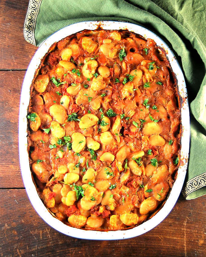 Lima Bean Recipes  Greek style baked lima beans • Holy Cow Vegan Recipes