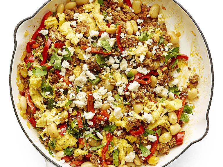 Lima Bean Recipes  Spicy Chorizo and Lima Bean Scramble Recipe