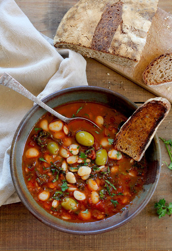 Lima Bean Recipes  Lima Bean Stew with Olives and Kale
