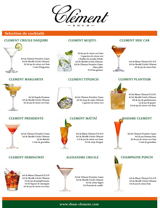 List Of Cocktails  IrresistibleParis A MOMENT IN TOTAL BLISS