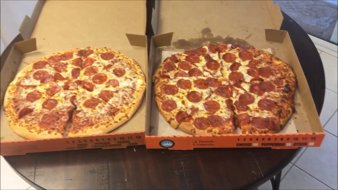Little Caesars Hot-N-Ready Extramostbestest Pizza, Pepperoni  Little Caesars Hot N Ready VS Extra Most Bestest Pizza