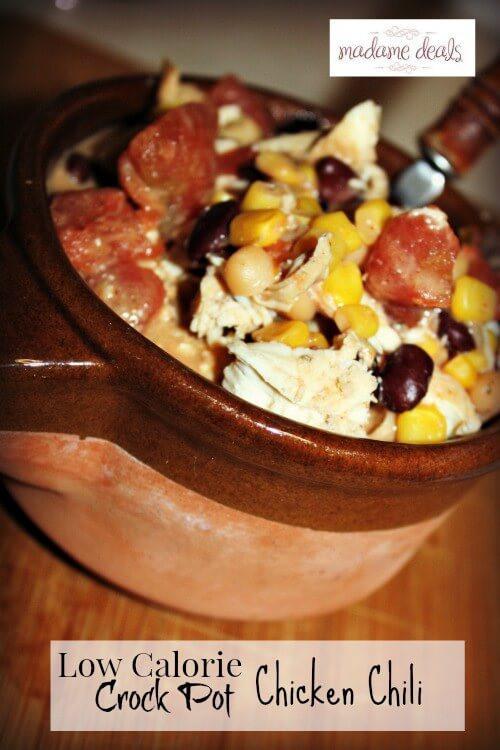 Low Calorie Crock Pot Recipes  Low Calorie Crock Pot Chicken Chili Recipe