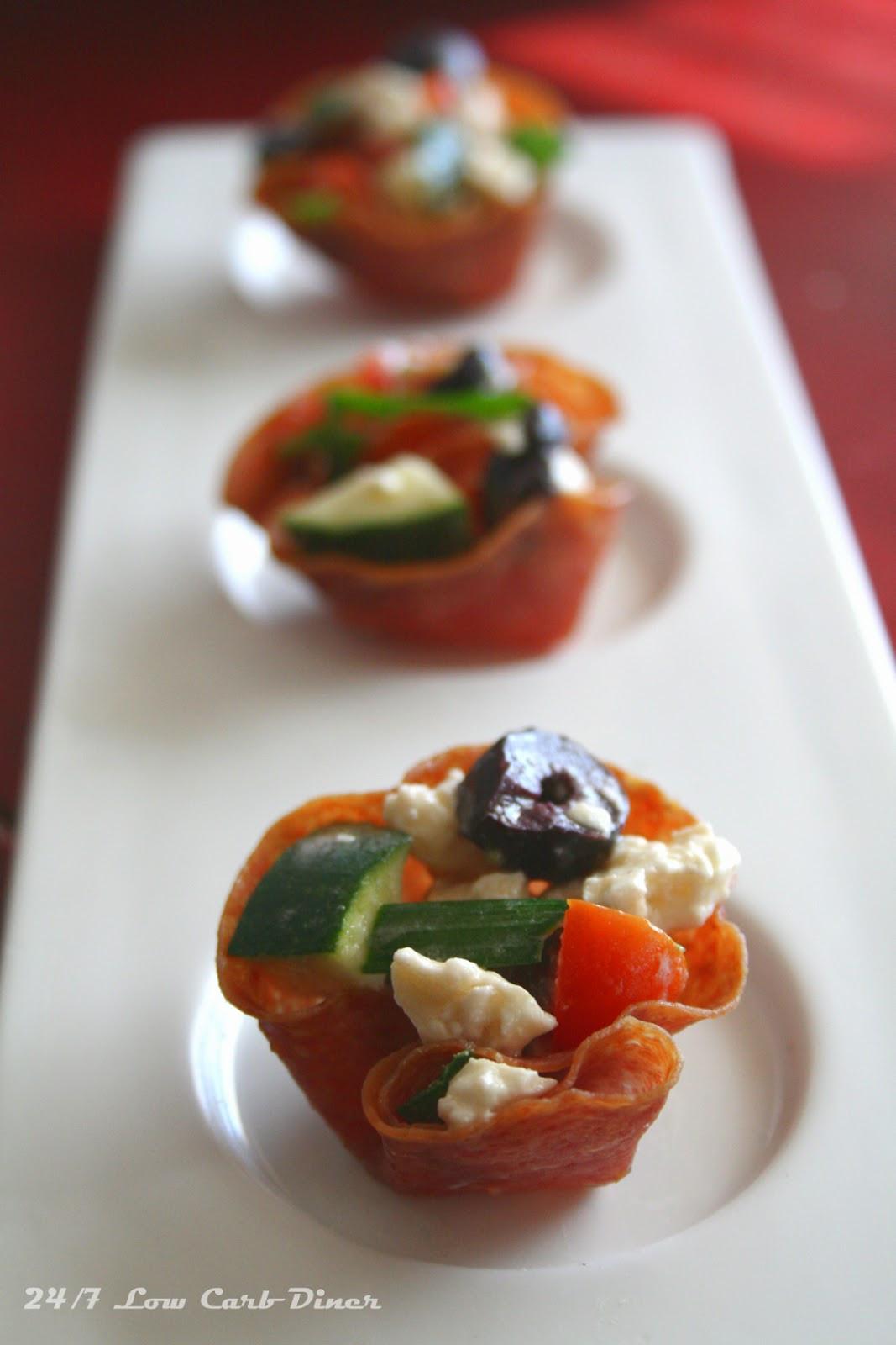 Low Carb Appetizers  24 7 Low Carb Diner Crisp Salami Cup Appetizers