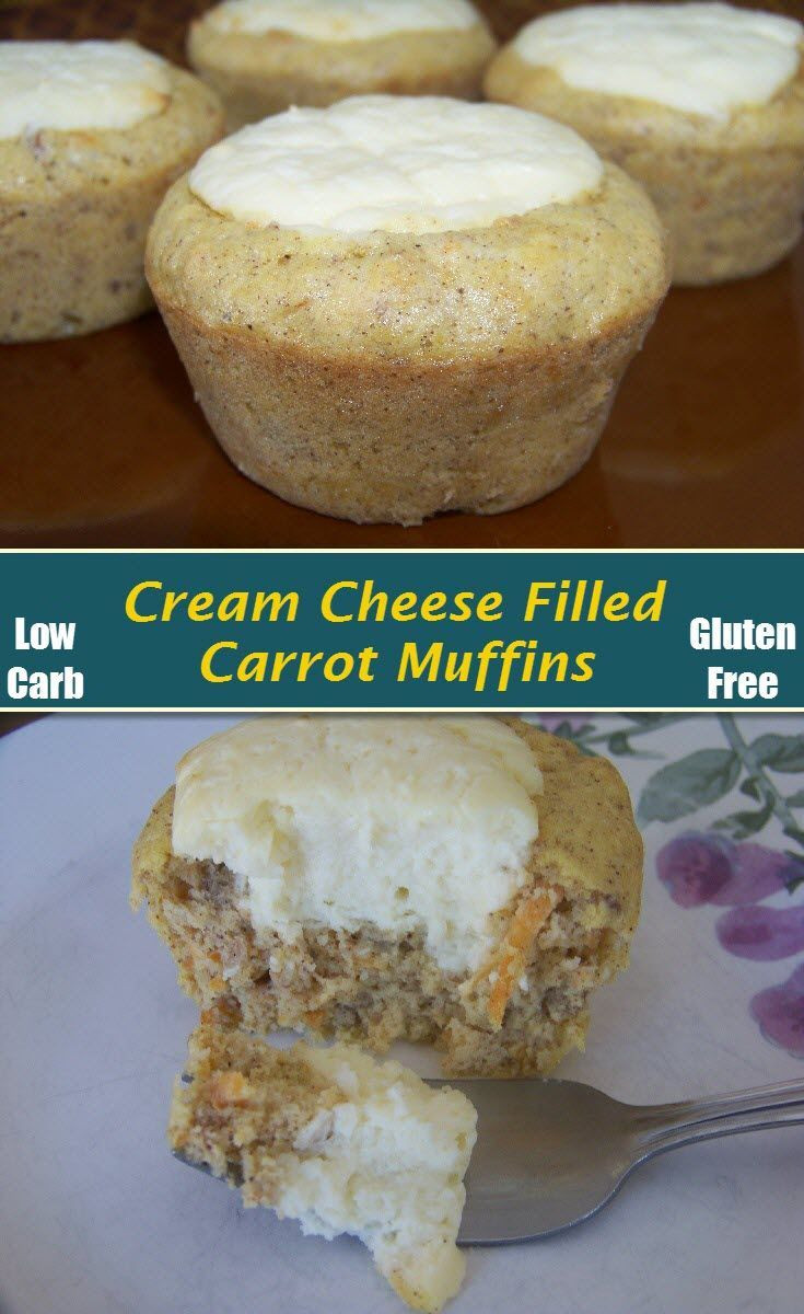 Low Carb Cream Cheese Dessert Recipes  Low Carb Carrot Cake Cream Cheese Muffins Recipe
