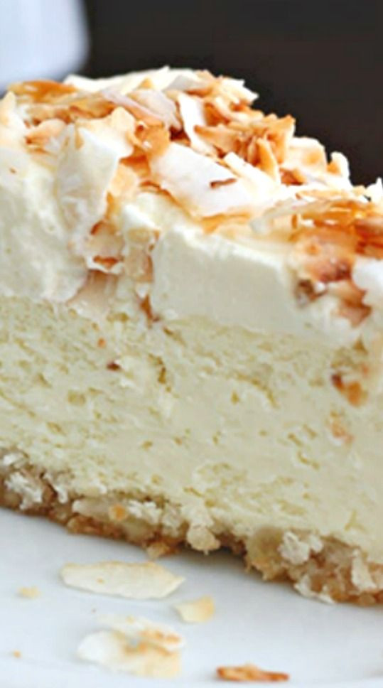 Low Carb Cream Cheese Dessert Recipes  Coconut Cheesecake with Macadamia Nut Crust Recipe