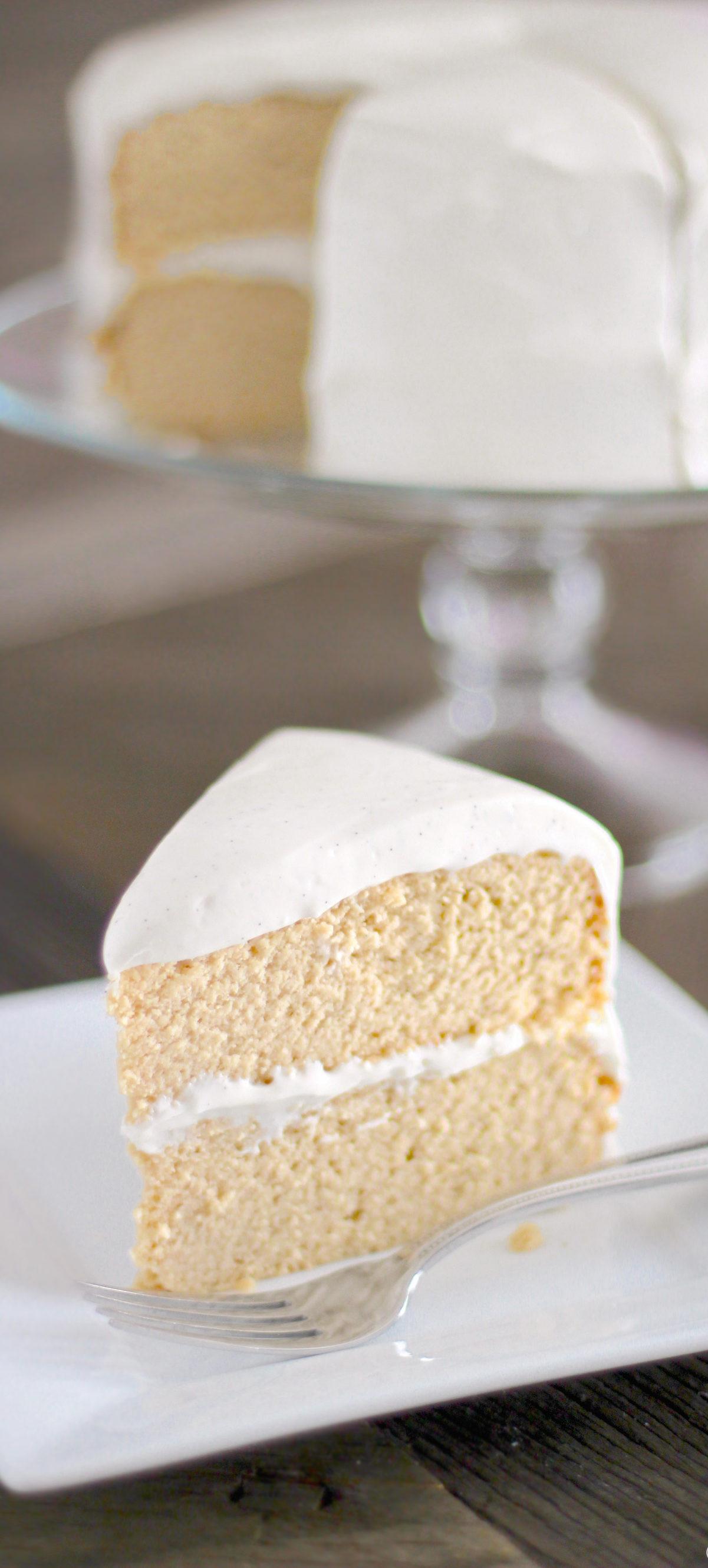 Low Carb Cream Cheese Dessert Recipes  The lightest fluffiest Gluten Free Vanilla Cake Recipe