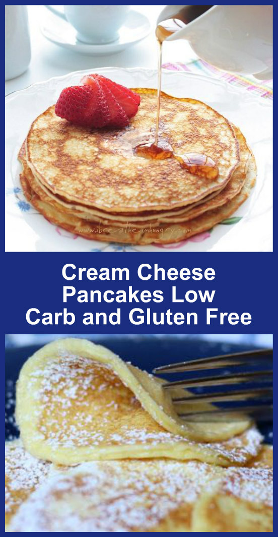 Low Carb Cream Cheese Pancakes  Cream Cheese Pancakes Low Carb and Gluten Free