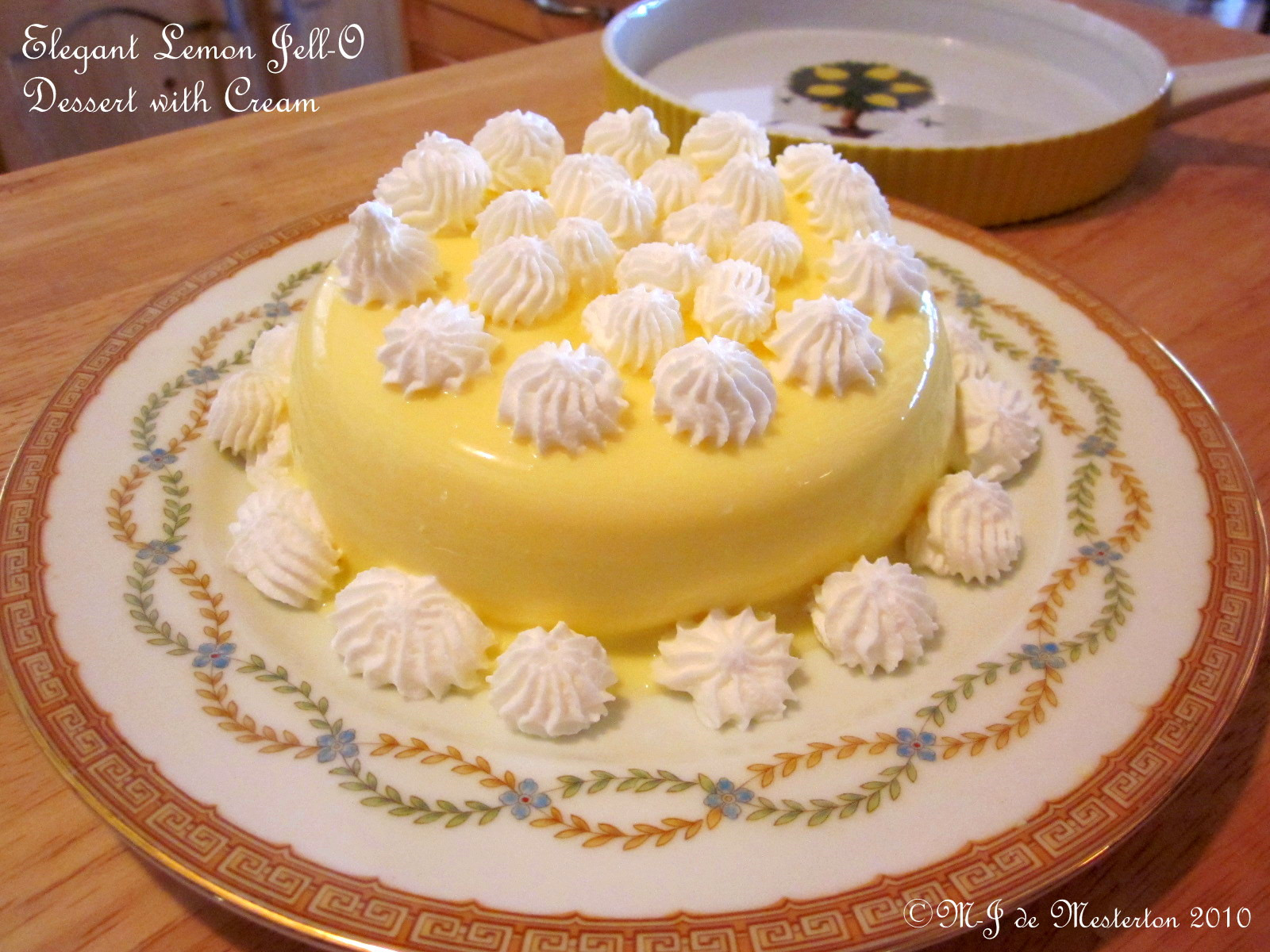 Low Carb Desserts With Cream Cheese  M J s Elegant Cuisine Elegant Jell O Dessert with Cream