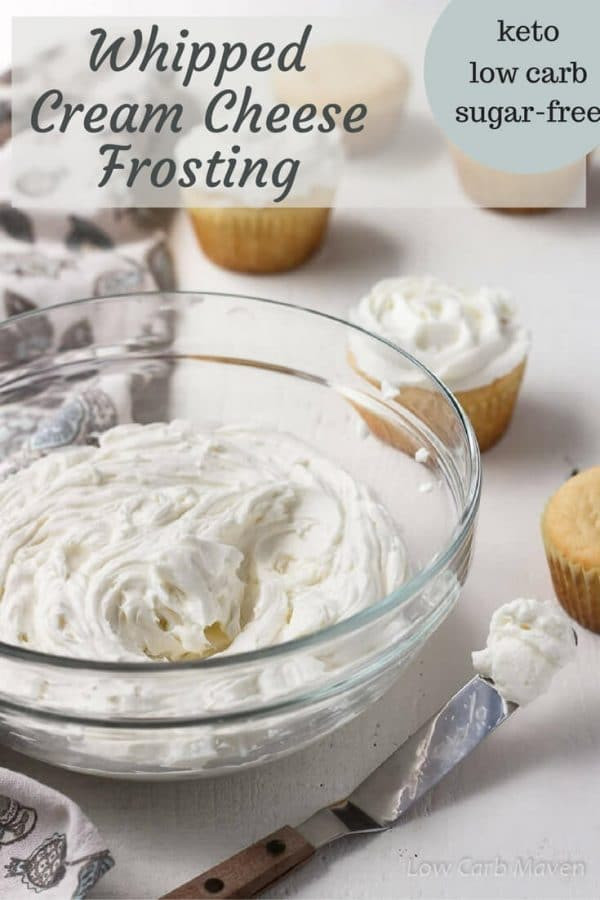 Low Carb Desserts With Cream Cheese  Whipped Cream Cheese Frosting sugar free low carb