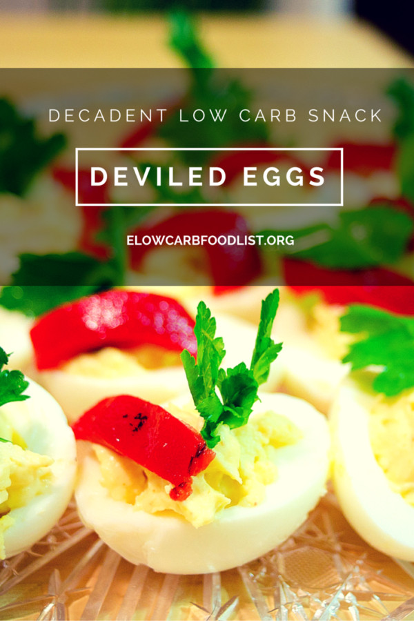 Low Carb Deviled Eggs  Decadent Deviled Eggs Recipe low carb Low carb food list