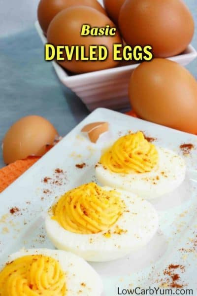 Low Carb Deviled Eggs  Basic Deviled Eggs for a Low Carb Diet