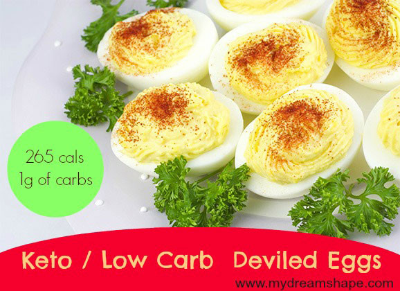 Low Carb Deviled Eggs  Keto Deviled Eggs Low Carb My Dream Shape