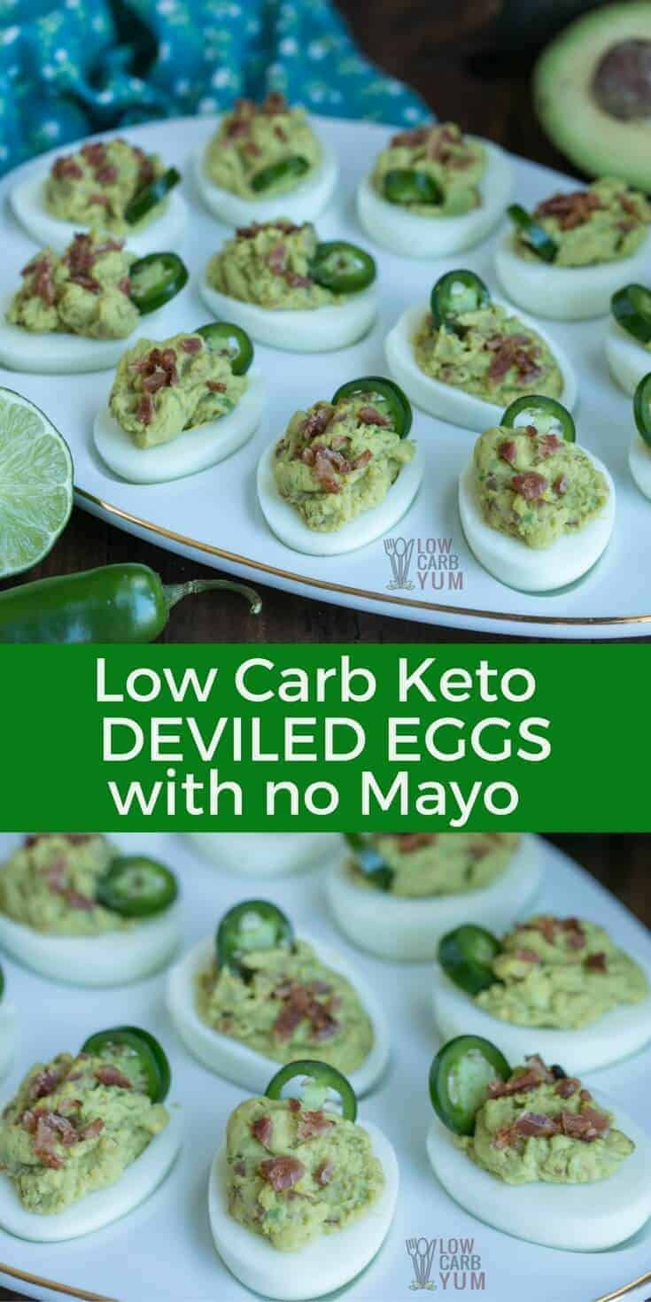 Low Carb Deviled Eggs  Spicy Keto Deviled Eggs without Mayo