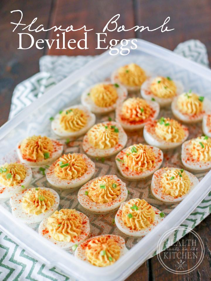 Low Carb Deviled Eggs  Flavor BOMB Deviled Eggs Paleo Low Carb & Ve arian