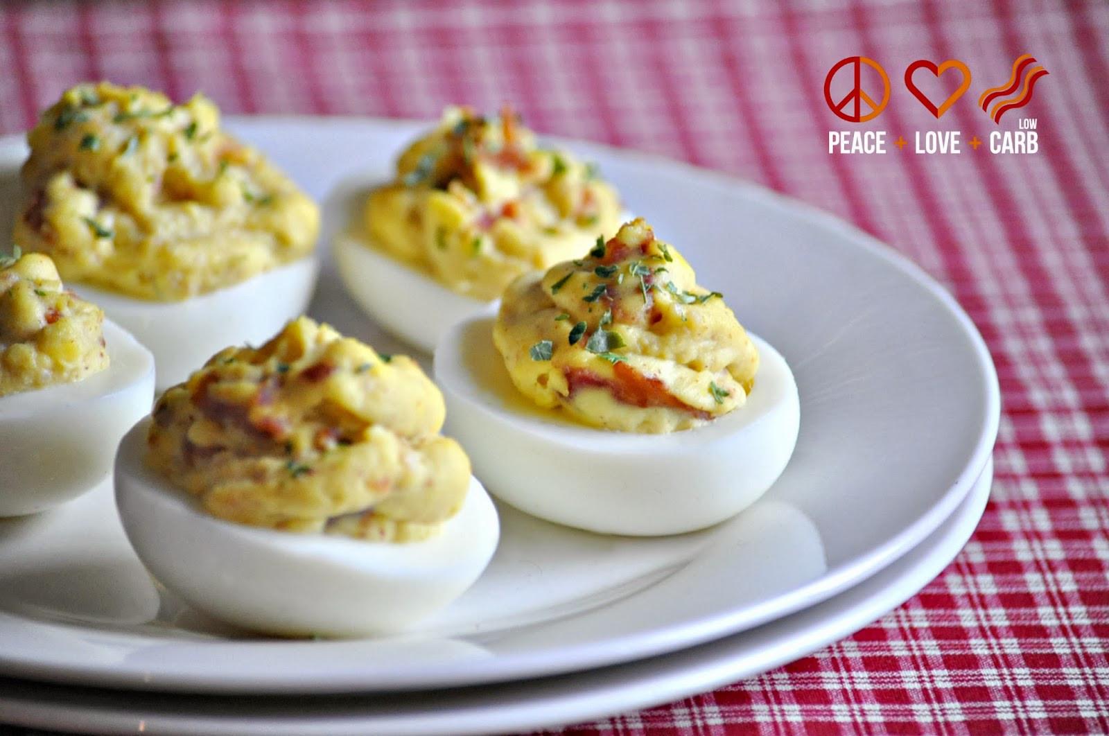 Low Carb Deviled Eggs  Bacon Deviled Eggs Low Carb Paleo