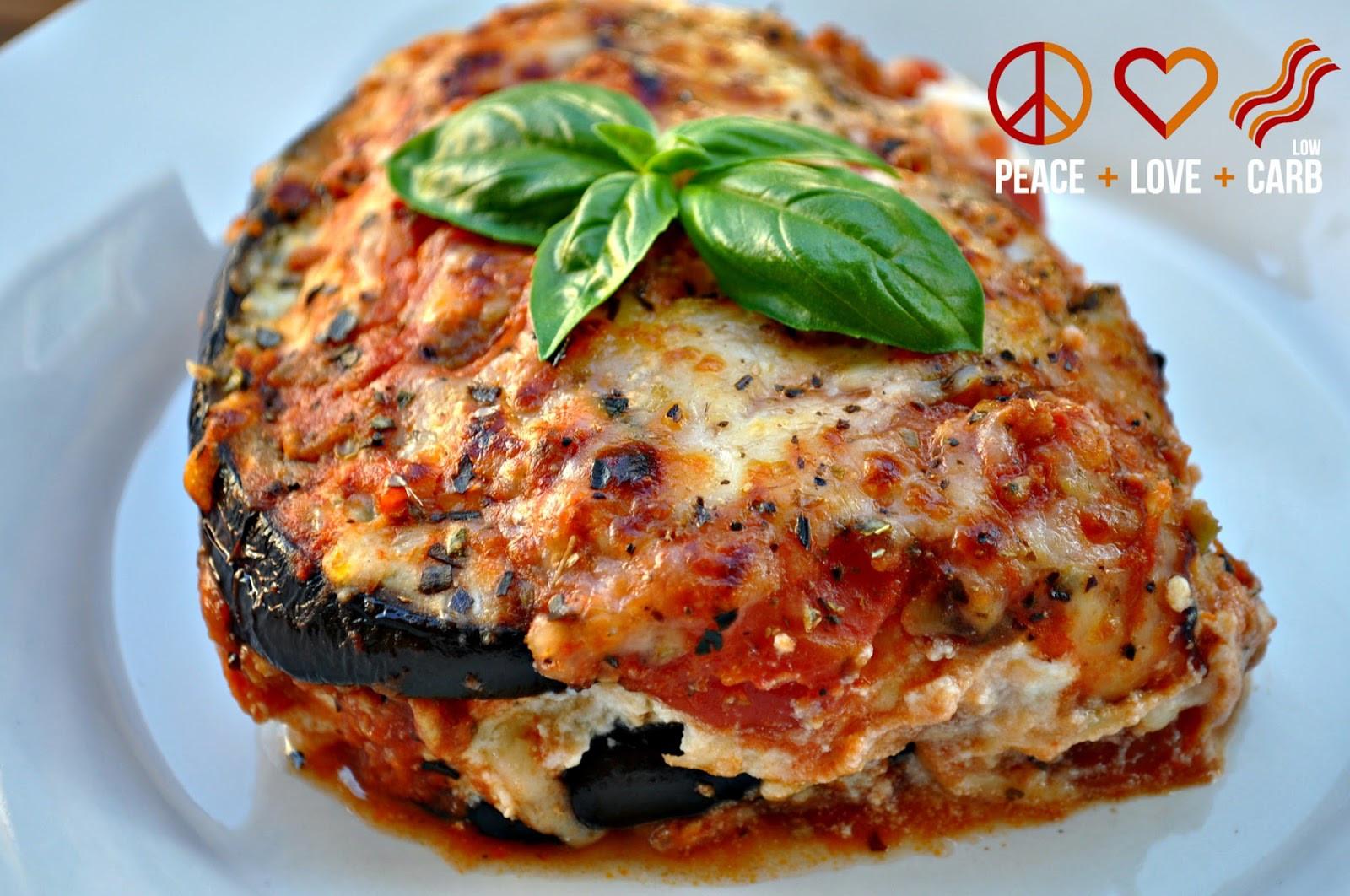 Low Carb Eggplant Recipes  Eggplant Lasagna with Meat Sauce Low Carb Lasagna