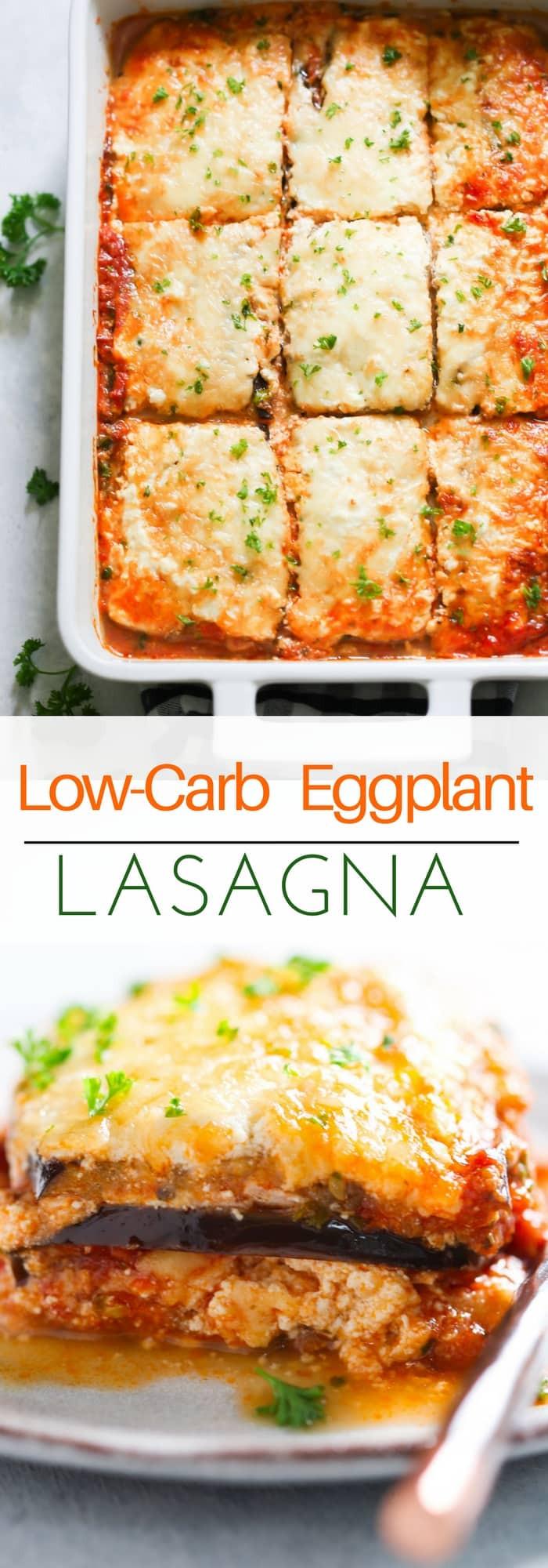 Low Carb Eggplant Recipes  Low carb Eggplant Lasagna Recipe Video Primavera Kitchen