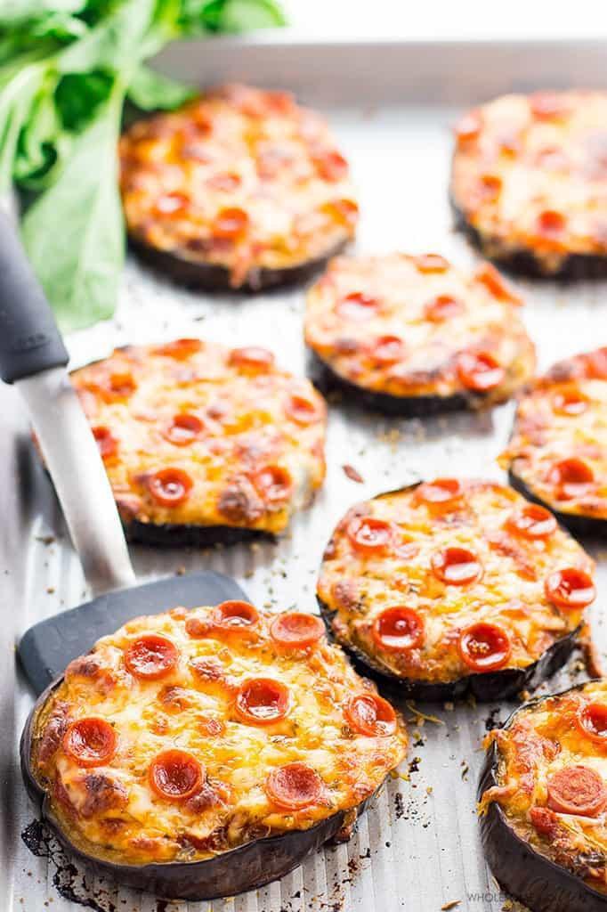 Low Carb Eggplant Recipes  Easy Low Carb Mini Eggplant Pizza Recipe VIDEO