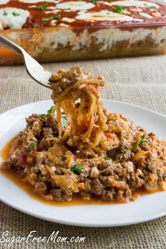 Low Carb Spaghetti Squash  Low Carb Spaghetti Squash Lasagna Casserole