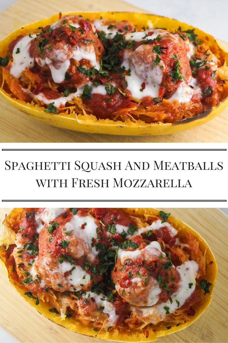 Low Carb Spaghetti Squash  Low Carb Spaghetti Squash and Meatballs with Fresh