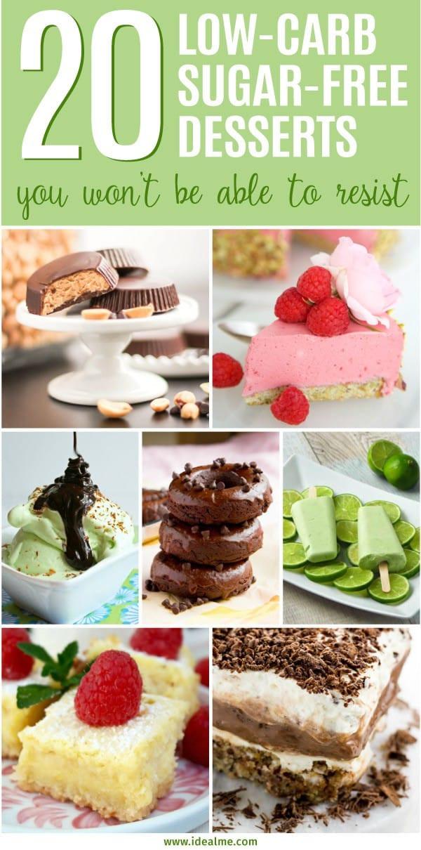Low Carb Sugar Free Desserts  20 Best Low Carb Sugar Free Dessert Recipes Ideal Me