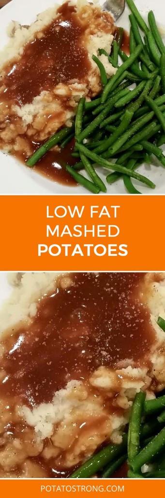 Low Fat Mashed Potatoes  Low Fat Mashed Potatoes No Milk Butter Needed Potato