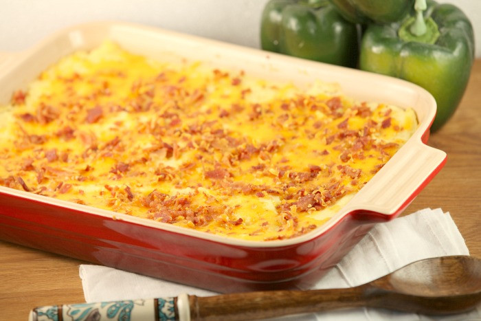 Low Fat Mashed Potatoes  Healthy Low Calorie Loaded Mashed Potato Casserole
