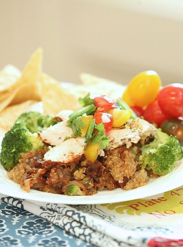 Low Fat Slow Cooker Recipes  Check out Slow Cooker Chicken Enchilada Quinoa Bake Low