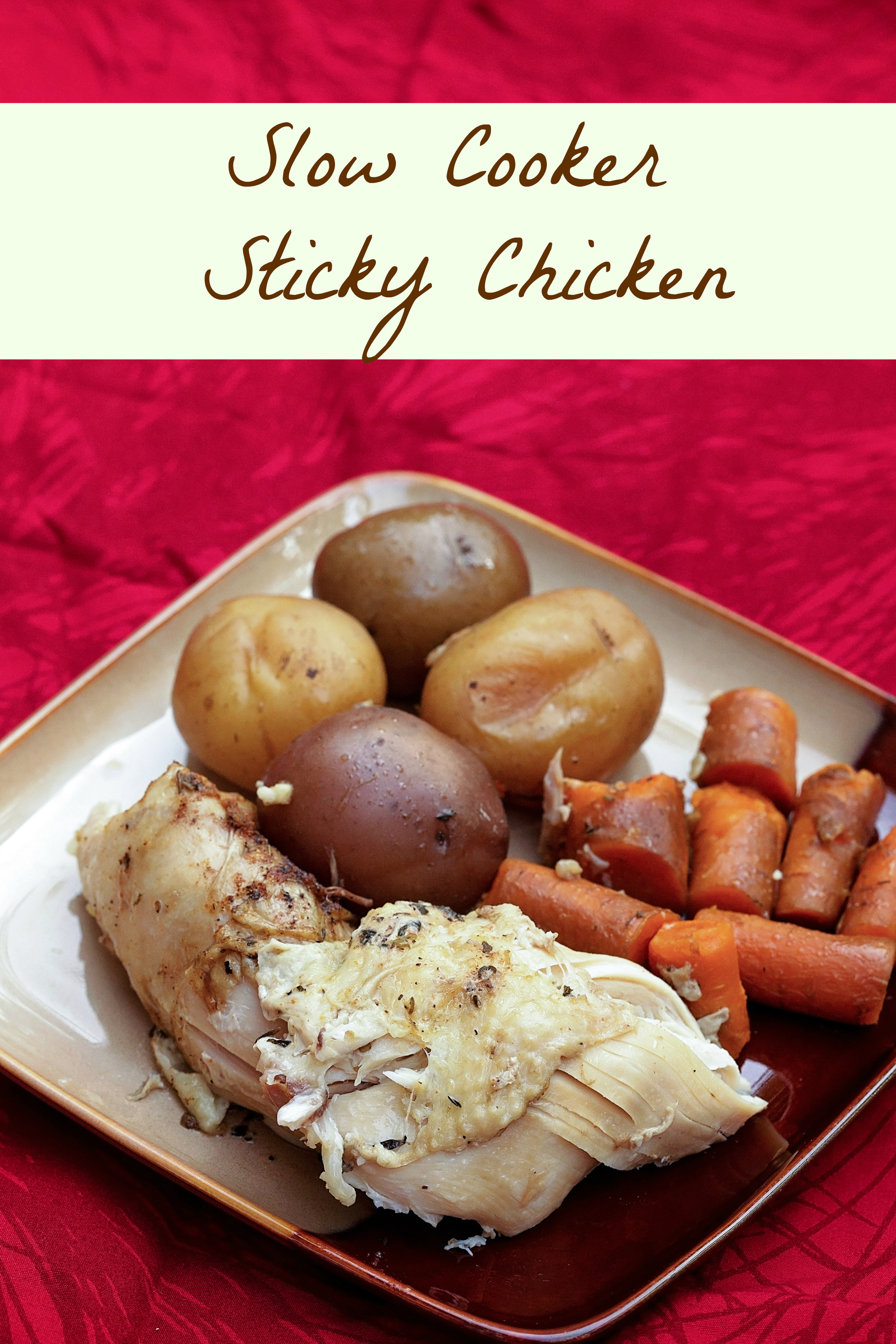 Low Fat Slow Cooker Recipes  Low Fat Slow Cooker Sticky Chicken Recipe SoFabFood
