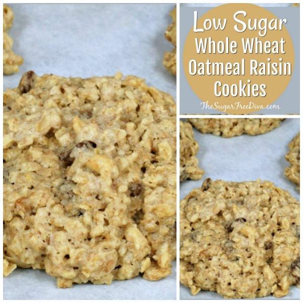 Low Sugar Oatmeal Cookies  Low Sugar Whole Wheat Oatmeal Raisin Cookies Recipe