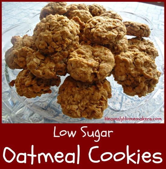 Low Sugar Oatmeal Cookies  Low Sugar Real Food Oatmeal Cookie Recipe