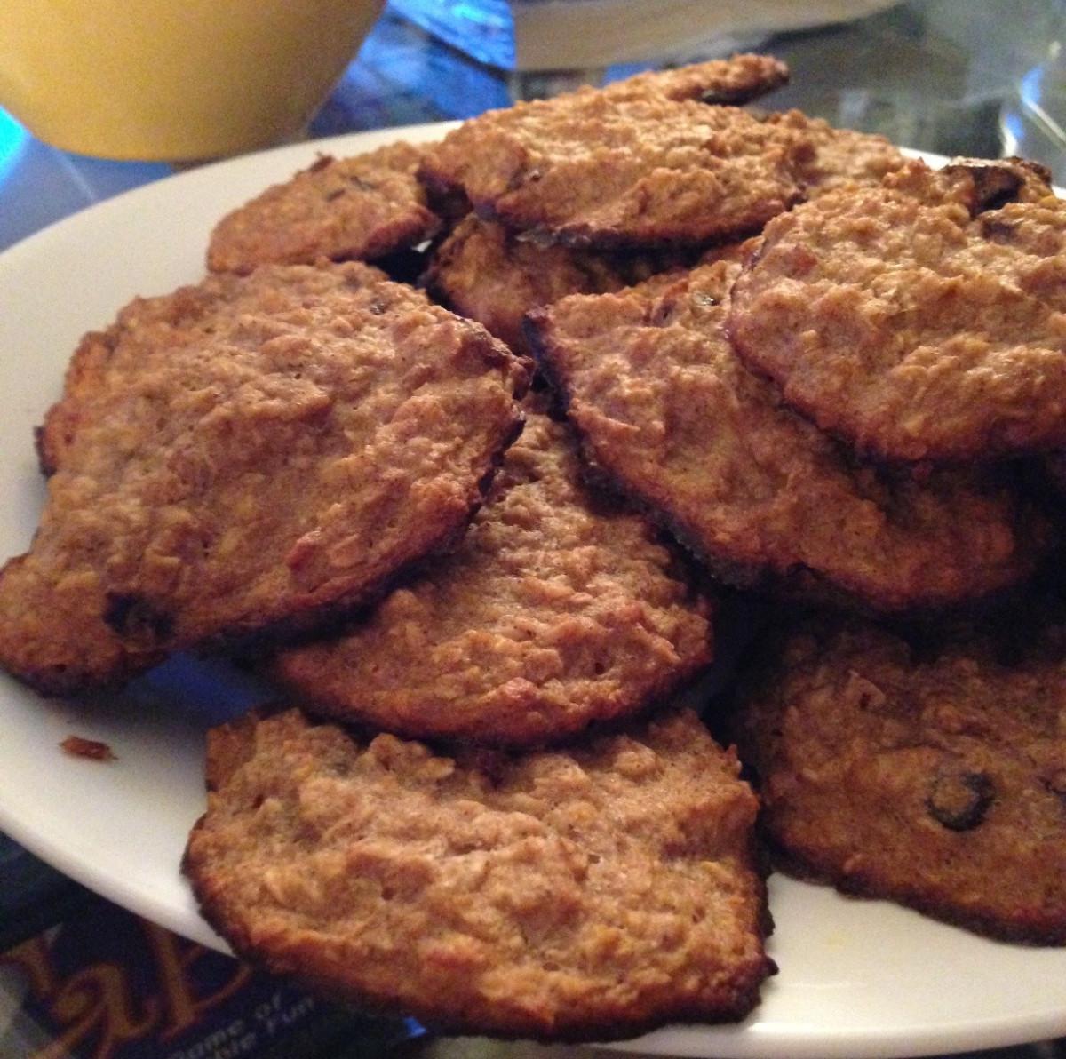 Low Sugar Oatmeal Cookies  Low Carb Low Sugar Oatmeal Raisin Cookies