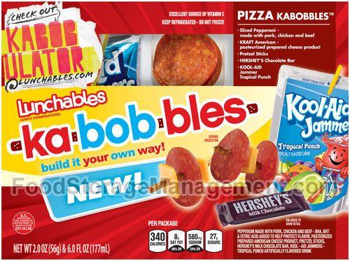 Lunchables Dessert Pizza  Lunchables Kabobbles Kids meals Pinterest