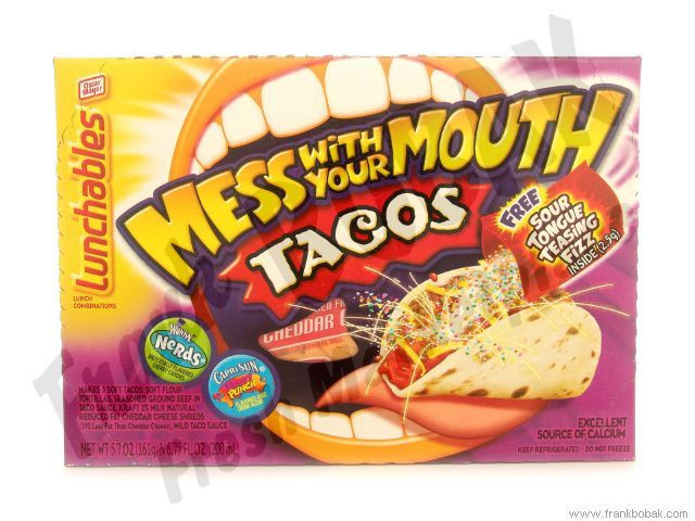 Lunchables Dessert Pizza  Lunchable tacos were the BEST