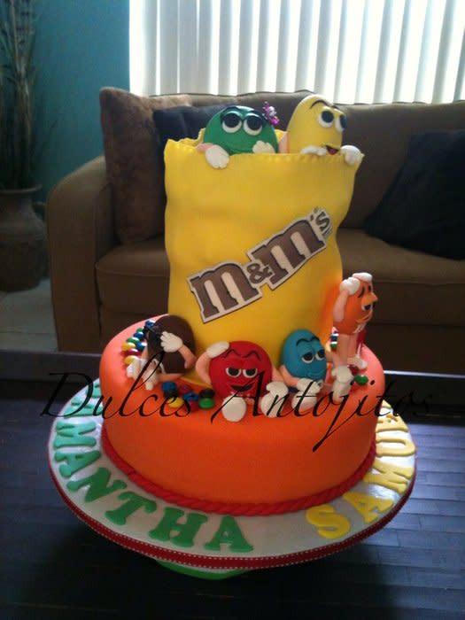 M.A.C Birthday Cake  M&M birthday cake cake by Mayra CakesDecor